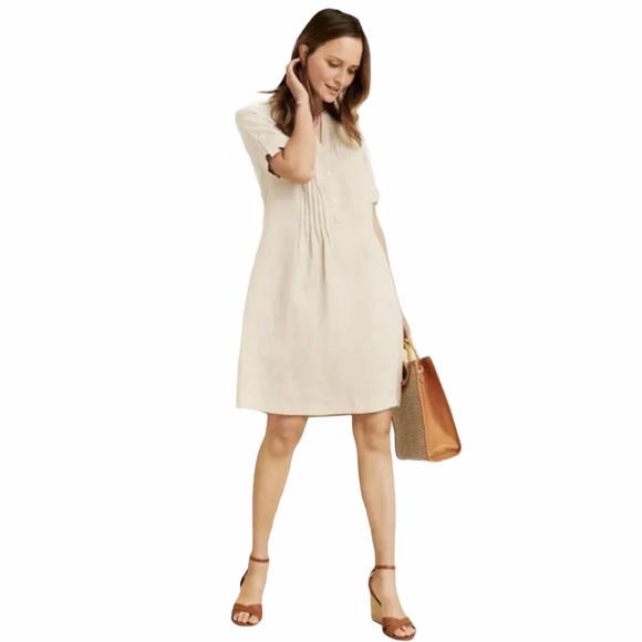 J McLaughlin Sand Riviera Linen Dress